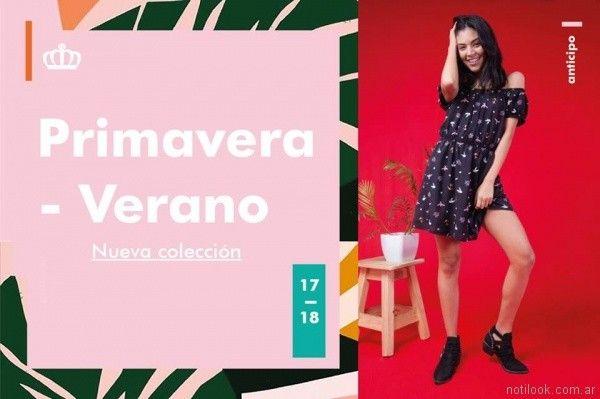 vestido estampado juvenil verano 2018 - Reina Ana