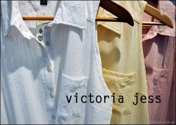 camisa casual musculosa Victoria jess Primavera verano 2018