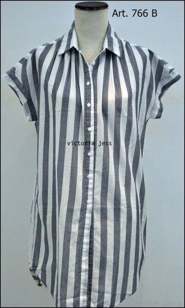 camisa larga a rayas Victoria jess Primavera verano 2018