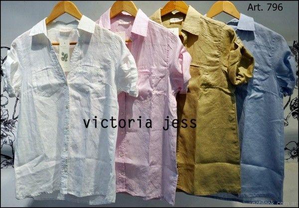 camisas de gabardina mangas cortas Victoria jess Primavera verano 2018