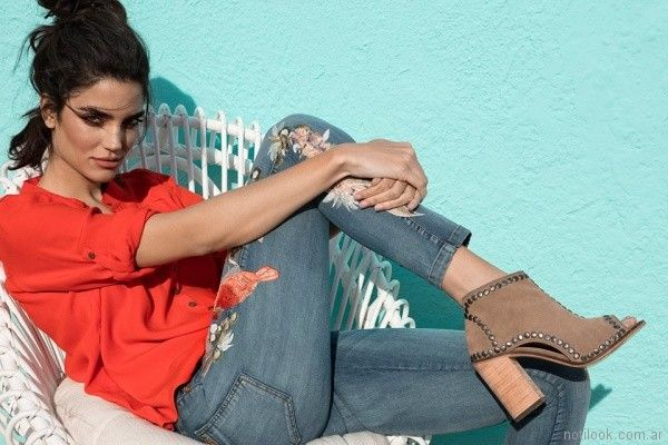 jeans bordado Vesna verano 2018
