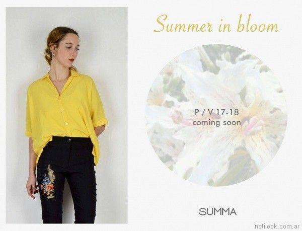 jeans bordados primavera verano 2018 SUMMA