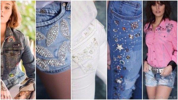 jeans bordados y con apliques verano 2018 tivoglio bene