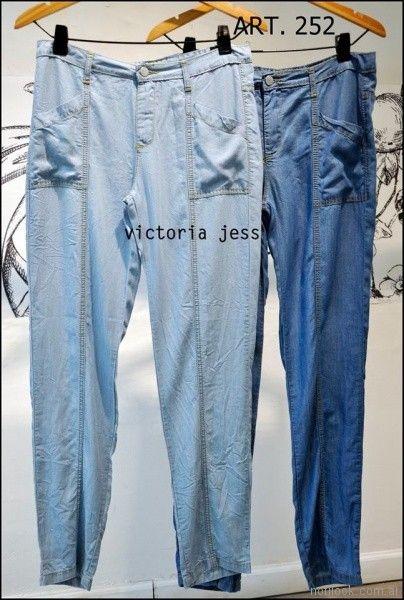 pantalones denim finos Victoria jess Primavera verano 2018