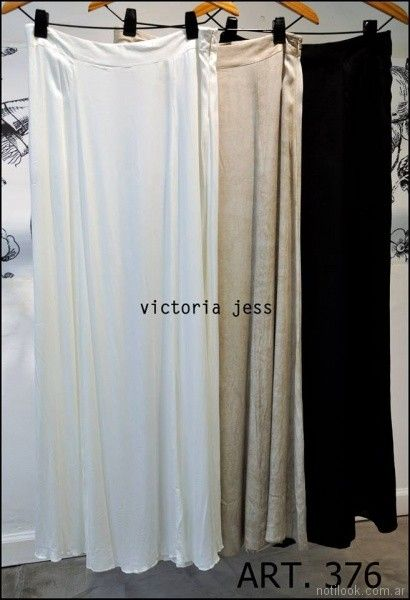 polleras largas Victoria jess Primavera verano 2018
