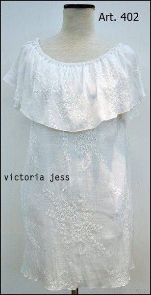 vestido corto de broderi Victoria jess Primavera verano 2018