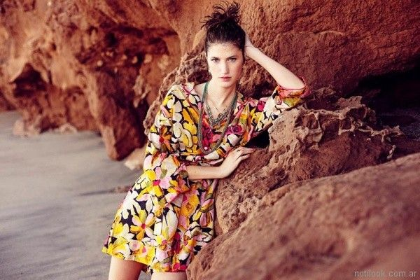 India Style - Vestido corto estampado verano 2018