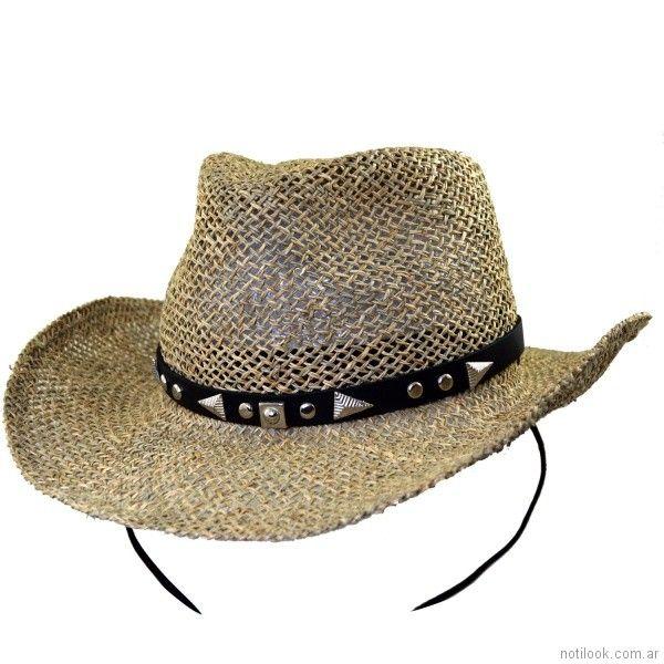 Sombrero cowboy yute verano 2018 - compañia de sombrero