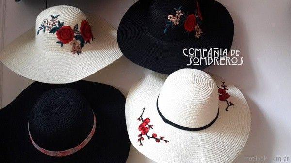 Sombreros para la playa bordados verano 2018 - compañia de sombrero