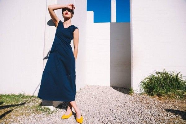 Vestido azul largo para el dia primavera verano 2018 - Pablo Mei
