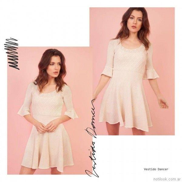 Vestido tejido fino Florencia Llompart Tejidos verano 2018