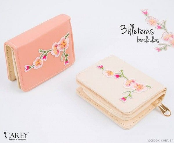 billeteras bordadas de moda primavera verano 2018 - Carey