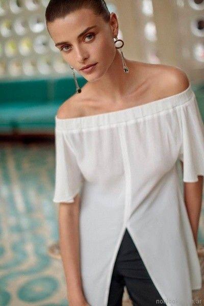 blusa blanca hombros descubiertos Ayres primavera verano 2018