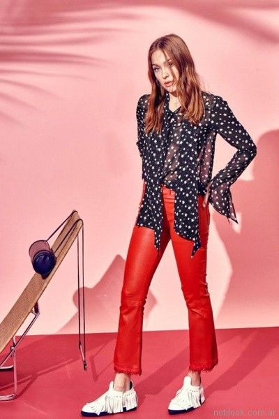 blusa de gasa estampada primavera verano 2018 - Ginebra