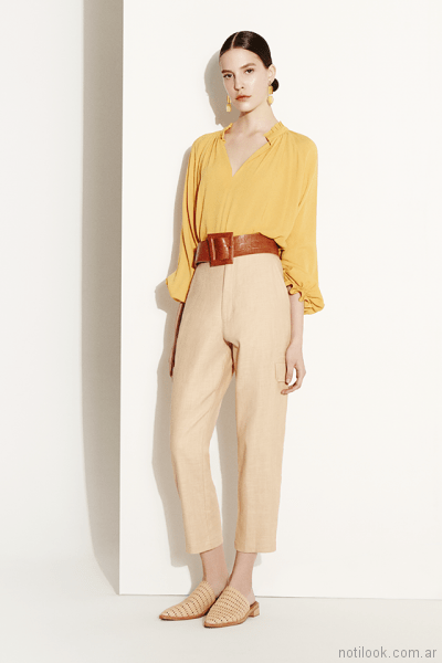 blusa holgada estilo tunica Clara ibarguren primavera verano 2018