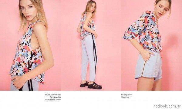 blusa short pantalon verano 2018