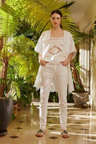 blusa y kimono con aplique en puntilla Vero Alfie primavera verano 2018