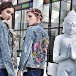 Camperas de Jeans bordadas Pago Chico primavera verano 2018