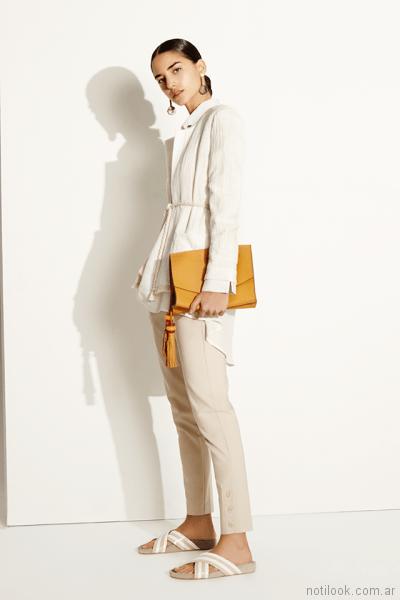 camisa con plisados blanca Clara ibarguren primavera verano 2018