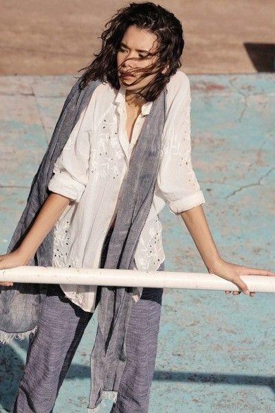 camisa de broderi y pantalon recto inedita primavera verano 2018