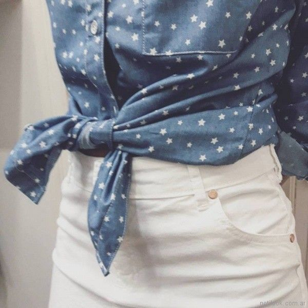 camisa de jeans primavera verano 2018 - Pablo Mei