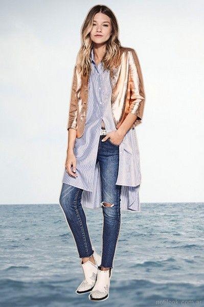 camisa larga con chupin roto verano 2018 Kosiuko
