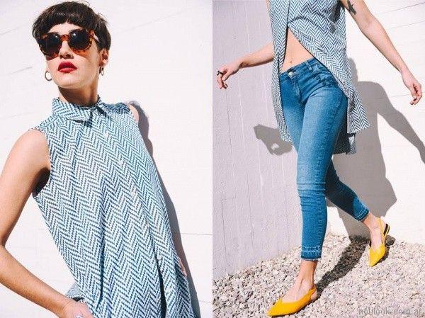 camisa larga estampa geometrica primavera verano 2018 - Pablo Mei