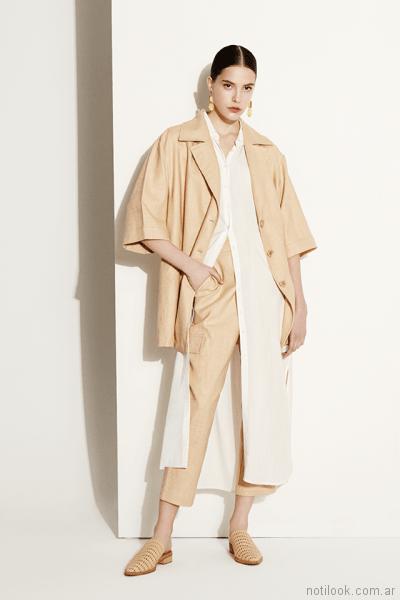 camisa larga y pantalon capri de vestir Clara ibarguren primavera verano 2018