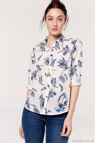 camisa mujer estampa floral Yagmur primavera verano 2018