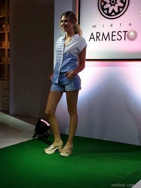 camisa musculosa mujer Mirta Armesto primavera verano 2018