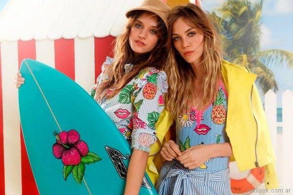 camisas a rayas y con dibujos juveniles Agustina Saquer primavera verano 2018