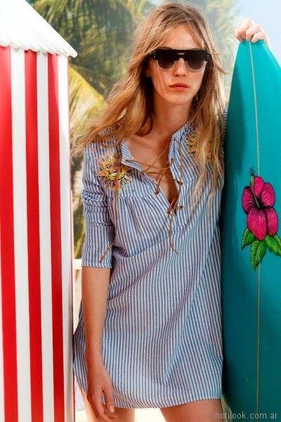 camisola a rayas Agustina Saquer primavera verano 2018