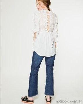 camisola larga blanca verano 2018 - WANAMA