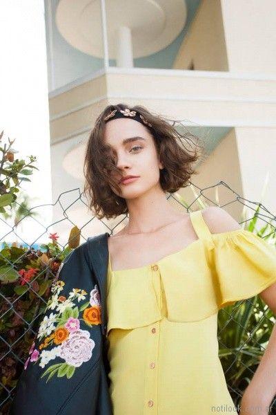 campera de cuero con bordado en espalda Las pepas primavera verano 2018
