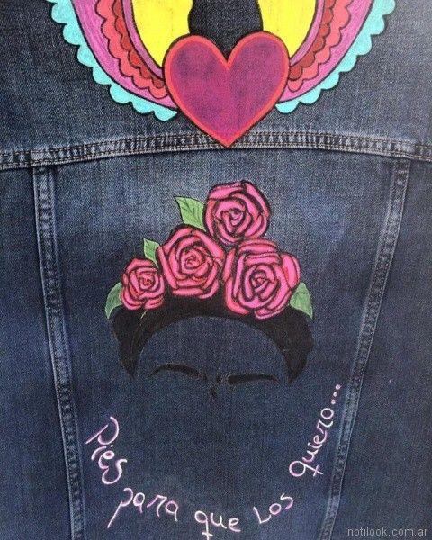 campera de jeans con frases pago chico primavera verano 2018