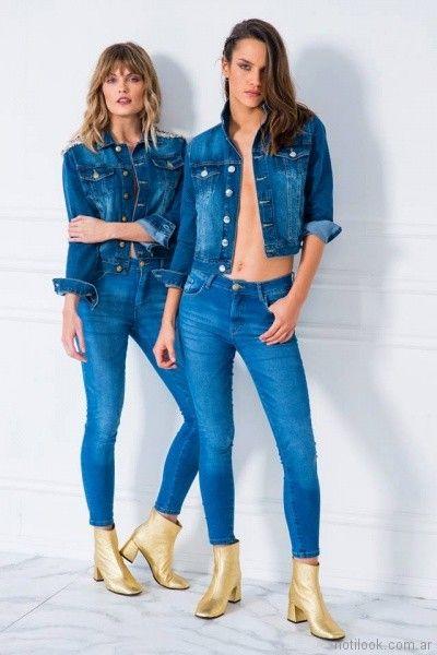 camperas de jeans mujer Doll store primavera verano 2018
