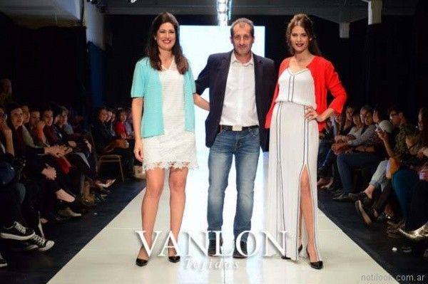 camperita tejida mangas cortas y larga primavera verano 2018 Vanlon Tejidos