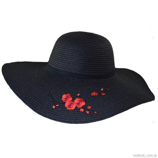 capelina con flores bordadas verano 2018 - compañia de sombrero