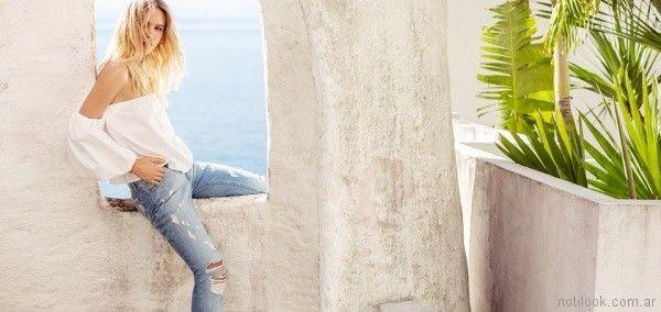 jeans con roturas Tucci primavera verano 2018