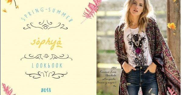 kimono casual con termincion asimetrica Sophya estilo boho chic verano 2018