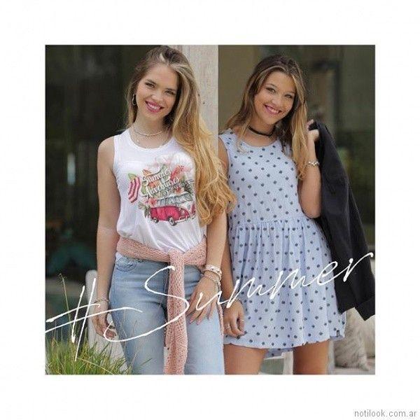 outfits para adolescentes primavera verano 2018 Doll fins