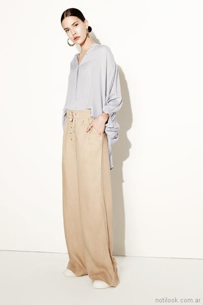 pantalon palazzo de vestir Clara ibarguren primavera verano 2018