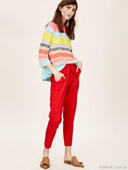 pantalon rojo verano 2018 - Jazmin Chebar
