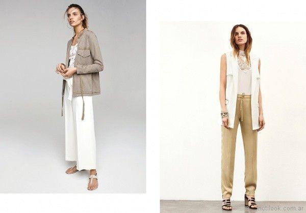 pantalones de vestir blusas y chalecos para señoras Rafael Garofalo verano 2018