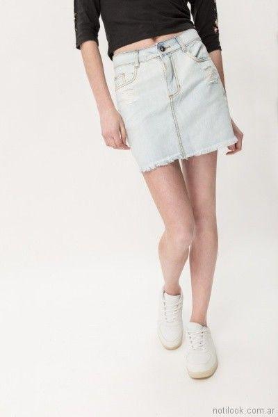 pollera de jeans para adolescentes primavera verano 2018 - MUAA