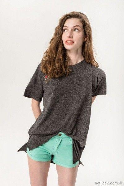 remera basicas largas para adolescentes primavera verano 2018 - MUAA