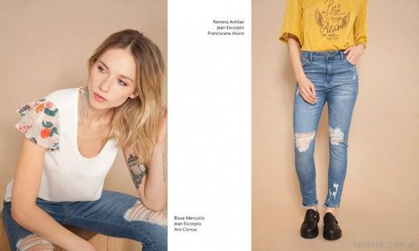 remera blusa jean verano 2018