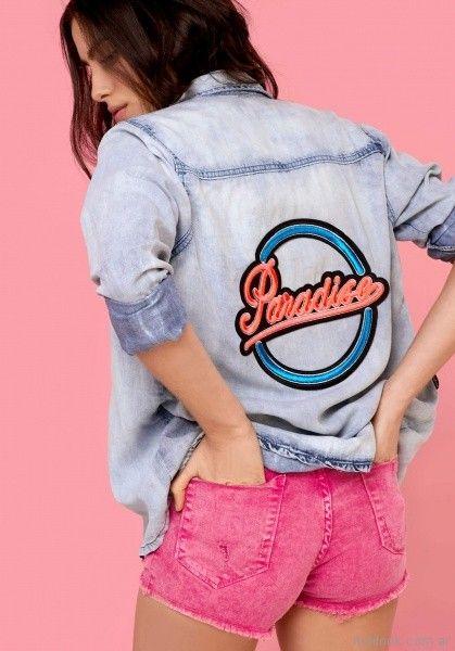 short de jeans rosado union good primavera verano 2018