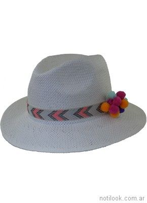 sombrero rafia simil panama verano 2018 - compañia de sombrero