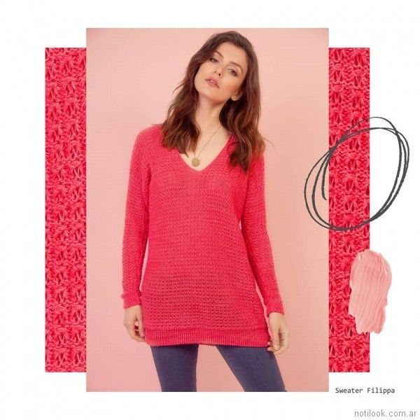 sweater fucsia Florencia Llompart Tejidos verano 2018